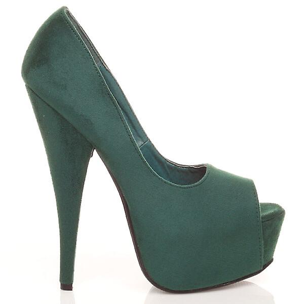 Ajvani womens toe platform high heel peep toe womens party court shoes sandals 6c0865