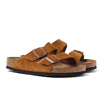 Birkenstock Arizona Tobacco Brown Leather Sandals