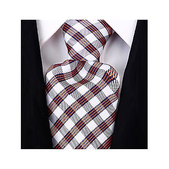 Scott Allan Men's Three Stripe Plaid Necktie