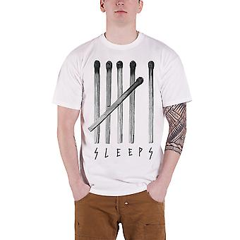 While She Sleeps T Shirt Matches Tally Chart Band Logo Official Mens New White