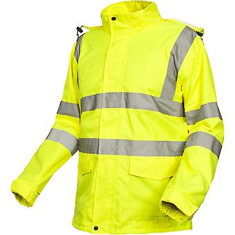Trespass Mens Beckon Waterproof Breathable High Visibility Work Jacket