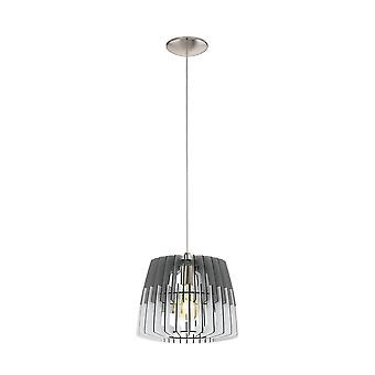 Eglo Ceiling Pendant Single Light Dia: 300 Grey White/Matt Nickel Artana