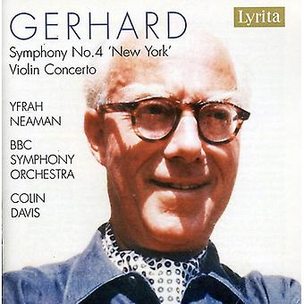 R. Gerhard - Roberto Gerhard: Symfoni No. 4 'New York'; Violin Concerto [CD] USA import