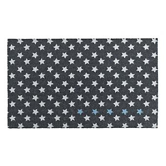 Doormat dirt trapping pad of five stars anthracite Blau Weiß 50 x 70 cm