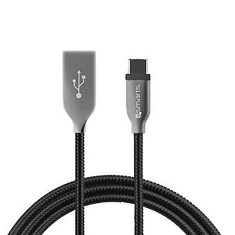 FERRUMCord FlipPlug type C USB data cable cable 50 cm USB charging cable black type C