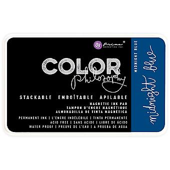 Prima Color Philosophy Permanent Ink Pad In Magnetic Case-Midnight Blue