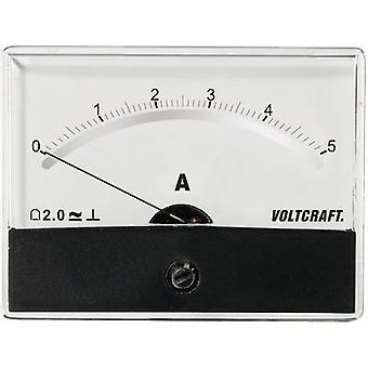 Analoga-rackmonterade mätaren VOLTCRAFT AM-86 X 65/5A/DC