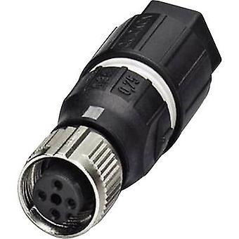 Phoenix Contact 1521601 Sensor/actuator connector M12 Socket, straight No. of pins (RJ): 4 1 pc(s)