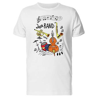 Jazz Band Instruments Tee Men's -Image by Shutterstock