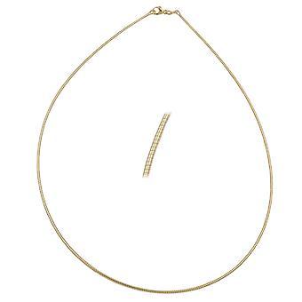 Chain 45 cm 0, 8 mm round chain 9Kt GOLD