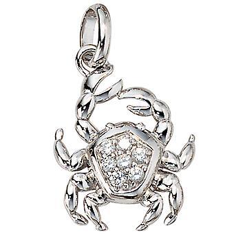Trailer cáncer zodiaco plata 925 sterling silver 3D