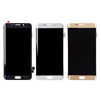 Roba certificata® Samsung Galaxy S6 del bordo dello schermo (LCD + Touch Screen + parti) A + qualità - nero / bianco / oro