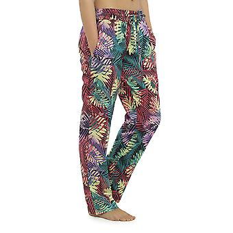 Dame Lightweight tropiske Print sommer bukse bunde Lounge slid bukser