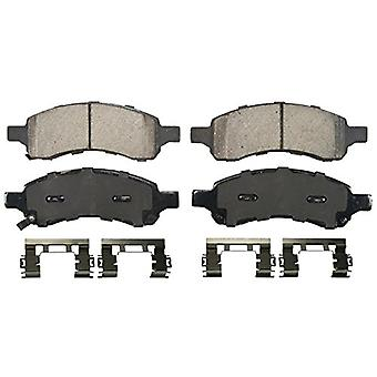 Wagner QuickStop ZD1169A Ceramic Disc Pad Set Includes Pad Installation Hardware, Front