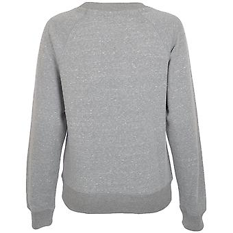 Puffa Womens Logo Casual Long Sleeve Ribbed Crew Neck Sweatshirt Pullover Top