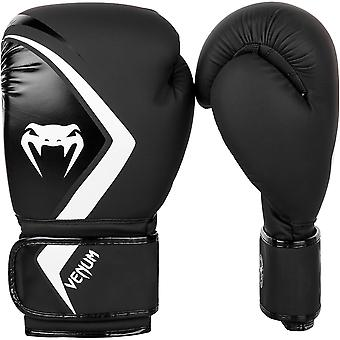 Venum Contender 2.0 Hook and Loop Training Boxing Gloves - Black/Gray/White