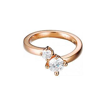 ESPRIT women's ring silver rose cubic zirconia svelte sparkle ESRG92139C1