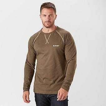 New Hi-Tec Men's Reeve Long Sleeve Graphic Tee Brown