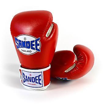 Sandee authentische Leder Boxhandschuhe rot