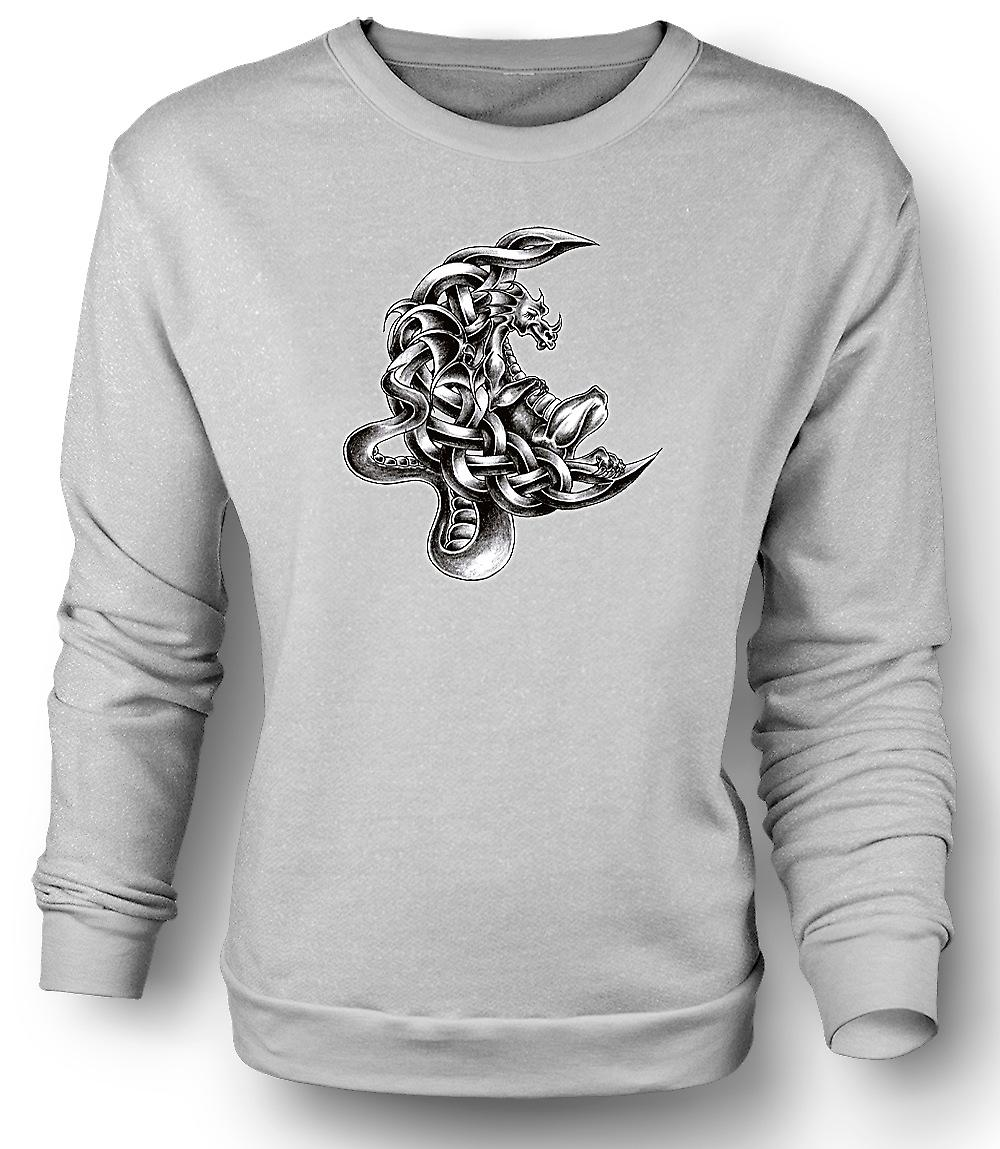 Mens Sweatshirt Dragon Tattoo - Design Sketch