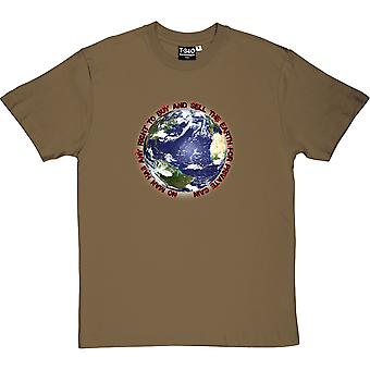 No Man Has Any Right To Buy And Sell The Earth Men's T-Shirt