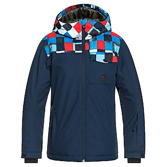 Quiksilver Dress Blue-Check Atomic Mission Block Kids Snowboarding Jacket