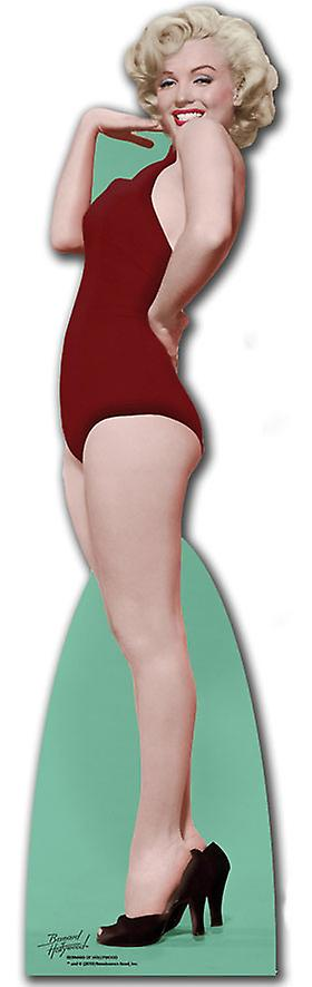 Marilyn Monroe wearing Red Swim Suit - Lifesize Cardboard Cutout / Standee