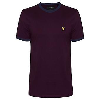 Lyle & Scott Lyle & Scott Burgundy Ringer T-Shirt
