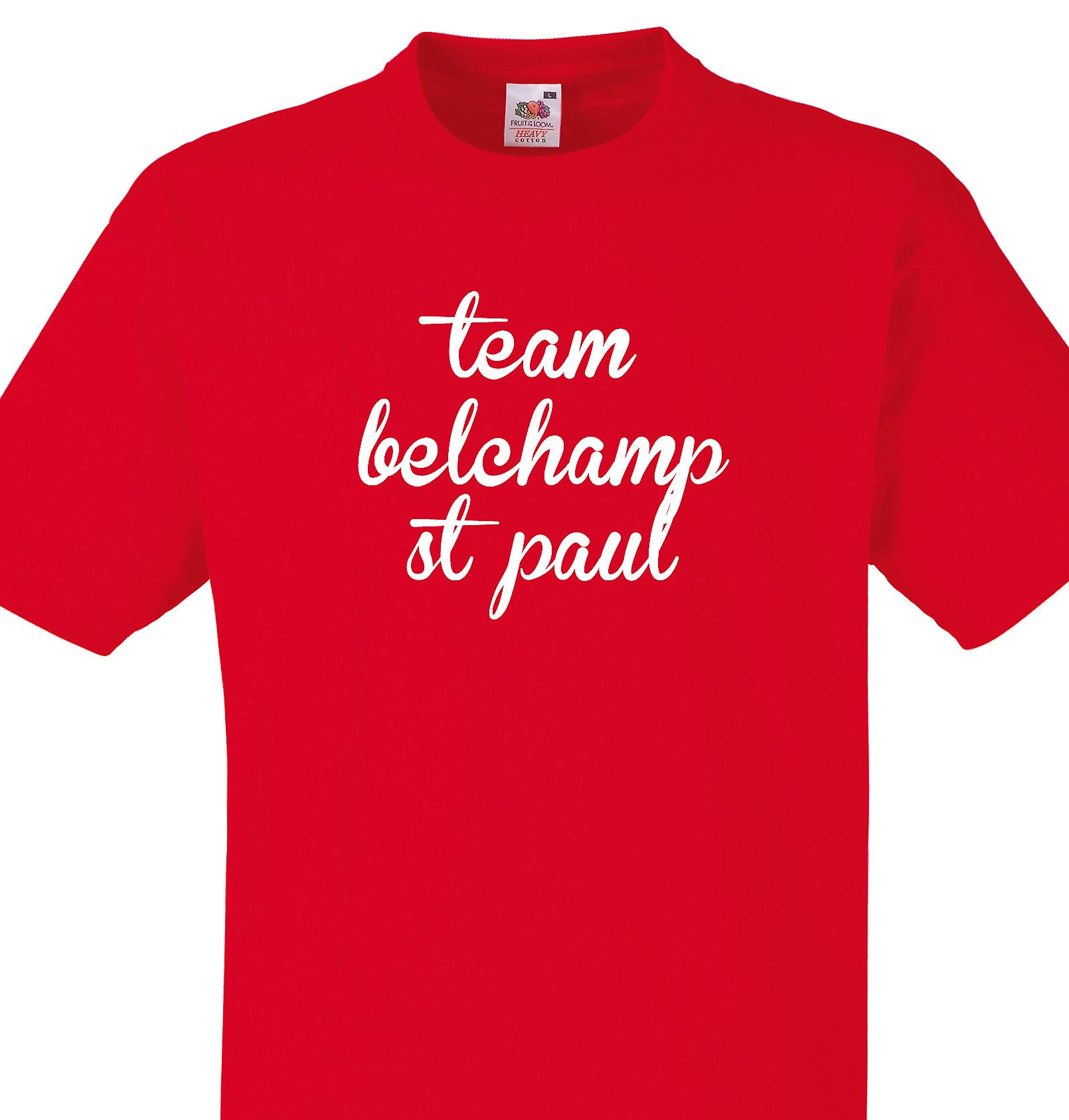 Team Belchamp st paul Red T shirt