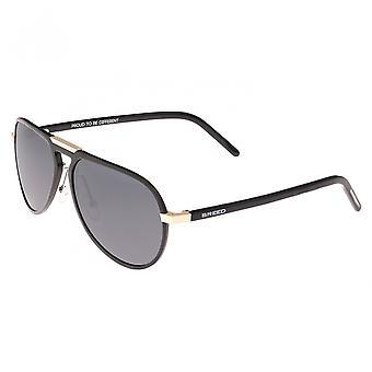 Breed Nova Aluminium Polarized Sunglasses - Black/Black