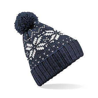Dla dzieci wzór Wooly Beanie Bobble Hat Nordic projekt dostępne w kolorze czerwonym, różowy, granatowy lub Sapphire Blue