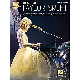 SWIFT TAYLOR BEST OF UPDATED EDITION FIVE FINGER� PIANO BOOK