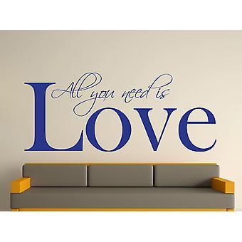 All You Need Wall Art Sticker - Dark Blue