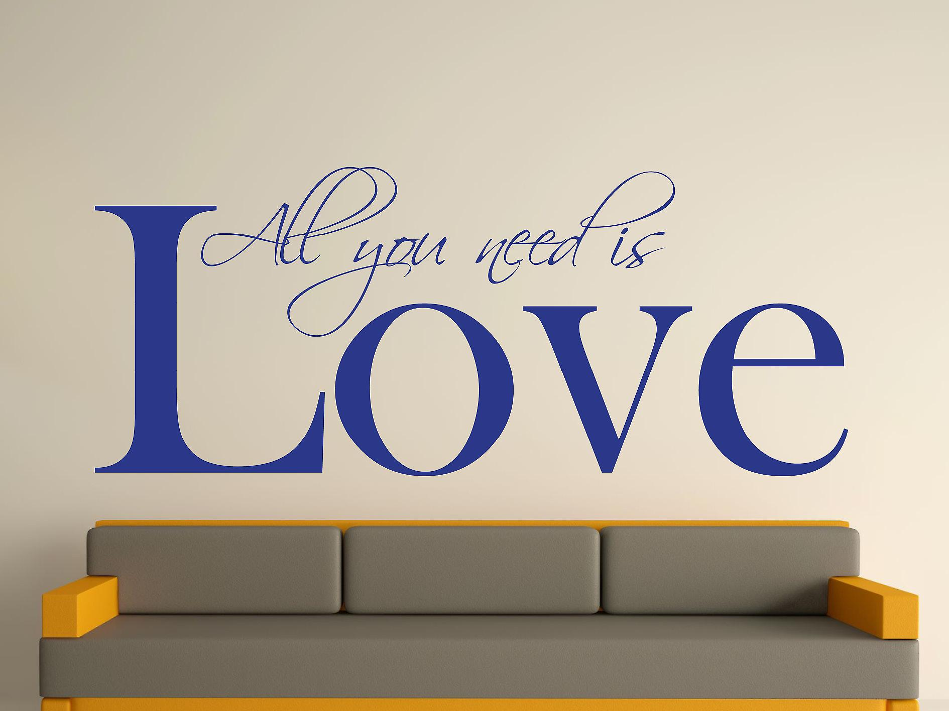 All You Need Art Wall Sticker - Bleu foncé