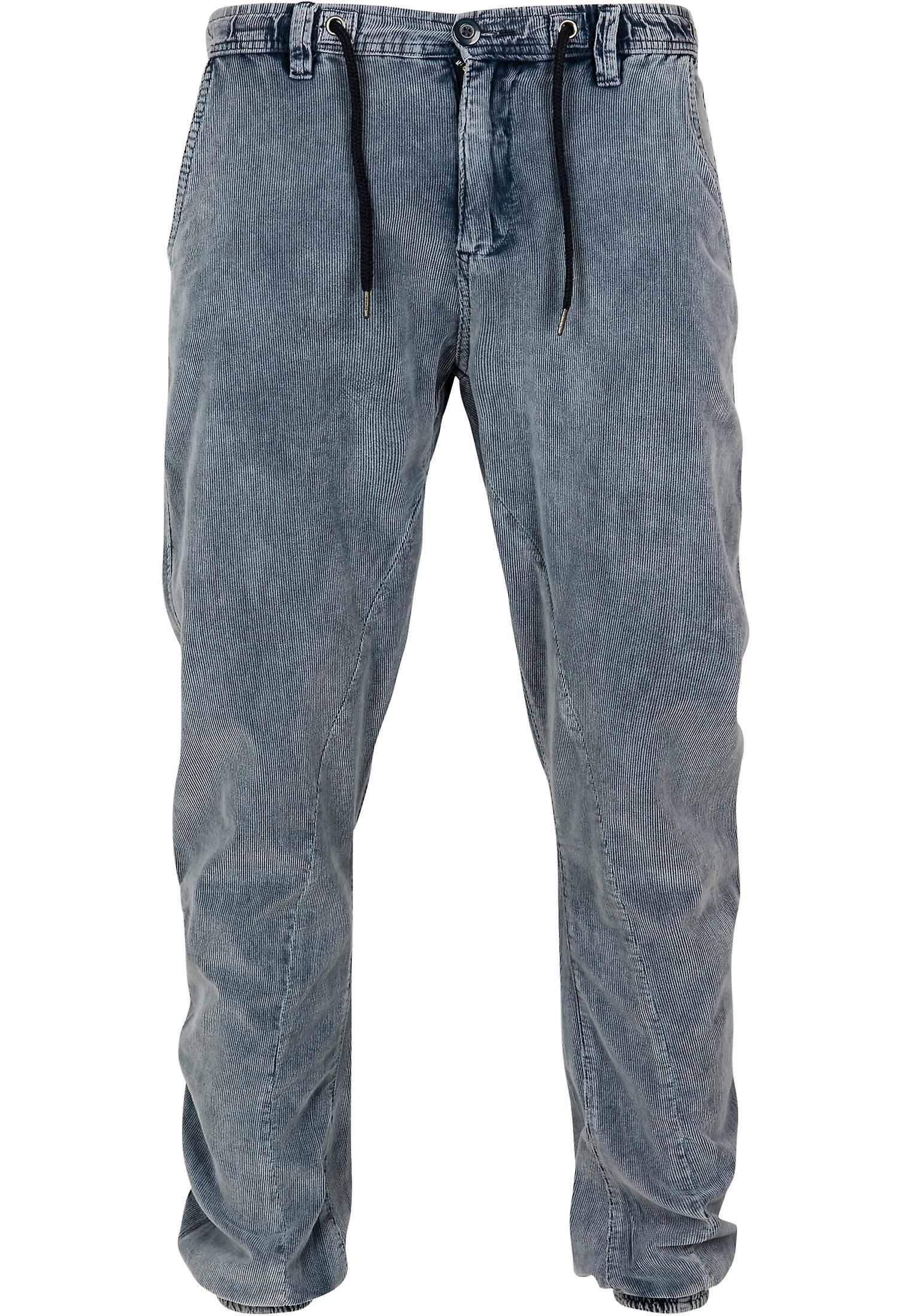 L'acide urbaines classiques hommes lavés pantalon velours côtelé