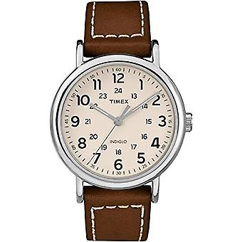 Timex Quartz Analog leather strap Unisex Adult TW2R42400JT