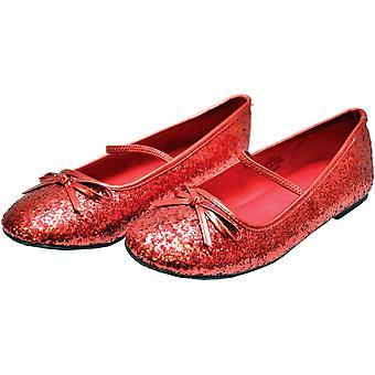 Ballet plana brillo Ch rojo Xlg