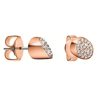 Calvin Klein Rose Gold Plated Ladies Tune Earrings kj8ype140100