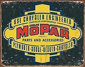 Mopar Logo '37-'47 metal sign