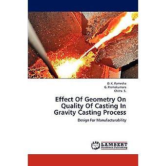 Wirkung der Geometrie auf die Qualität des Gießens In Schwerkraft Casting Prozess von Ramesha & D. K.