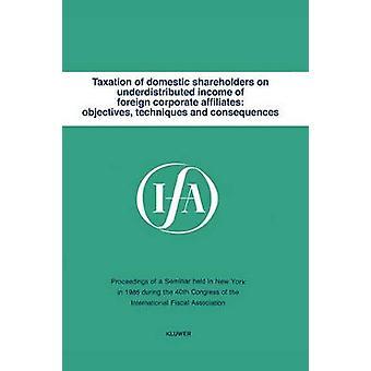 Ifa Taxation of Domestic Shareholders by International Fiscal Associaiton IFA