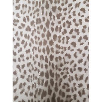 Zwierzęta Leopard Print tapeta teksturowanej szary brązowy wklej ściana winylowe Deco 4 ściany