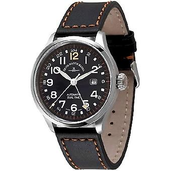 Zeno-watch mens watch retro Tre pilot (dual time) 6302GMT-a15