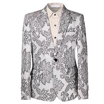 Allthemen Men's Casual Blazer Plant Flower Multi-Size Suit Jacket