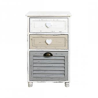 Rebecca möbler natt duks bord låda Urban 3 lådor beige grå vit badrum