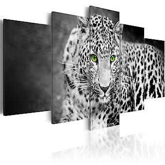 Canvas Print - Leopard - black&white