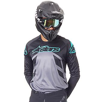 Alpinestars Black-Grey-Teal 2019 Racer Tech Compass MX Jersey