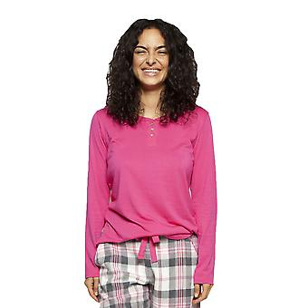 Cyberjammies 4253 Women's Lola Pink Cotton Pyjama Top