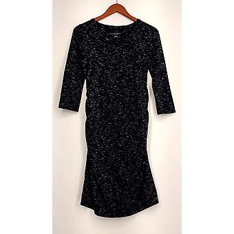 Liz Lange Maternity 3/4 Length Sleeve Knit Maternity Dress Blue