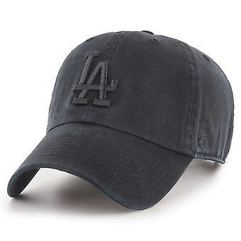 47 Brand Strapback Cap - CLEAN UP LA Dodgers black washed